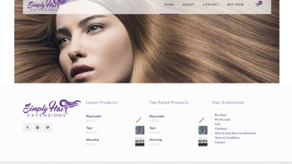 Simply Hair Extensions Website